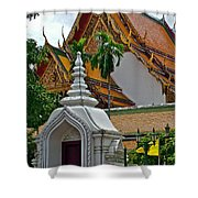 Street Entry To Wat Po In Bangkok-thailand Shower Curtain