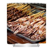 Street Food, China Shower Curtain