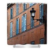 Street Illuminated..  Shower Curtain