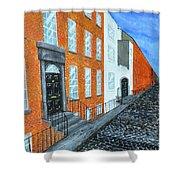 Street In Dublin Shower Curtain