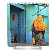 Street In Harar Ethiopia  Shower Curtain
