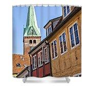 Street In Helsingor Denmark Shower Curtain