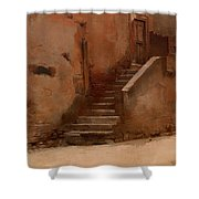 Street In Italy Shower Curtain