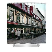 Street In Quebec Shower Curtain
