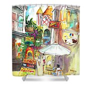 Street In Saint Martin Shower Curtain