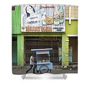 Street In Surabaya Indonesia Shower Curtain