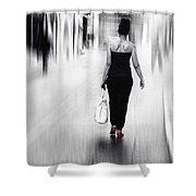 Street Lady Shower Curtain