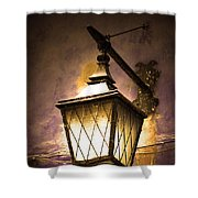 Street Lamp Shining Shower Curtain