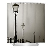 Street Lamps Shower Curtain by Dave Bowman