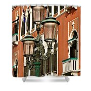 Street Lamps Of Venice Shower Curtain