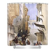 Street Leading To El Azhar, Grand Shower Curtain