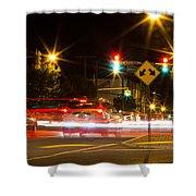 Street Lights Shower Curtain