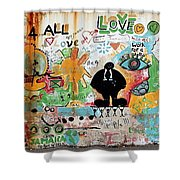 Street Mural At Liguanea Shower Curtain