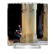 Street Musician 4 Shower Curtain