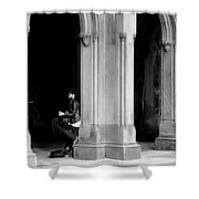 Street Musician 4b Shower Curtain