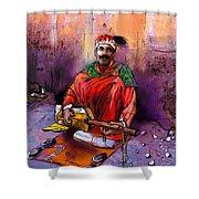 Street Musician In Marrakesh 01 Shower Curtain