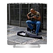 Street Musician - Sao Paulo Shower Curtain