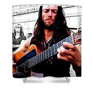 Street Musician Series #1 Shower Curtain