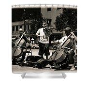 Street Musicians 2 Shower Curtain