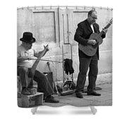 Street Musicians In Avignon Shower Curtain
