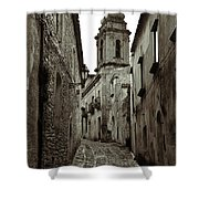Street Of Erice Shower Curtain