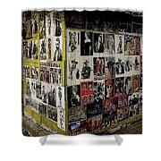 Street Photographer's Shed Icons Us/mexico Border Nogales Sonora  Mexico 2003 Shower Curtain