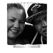 Street Portraits Shower Curtain