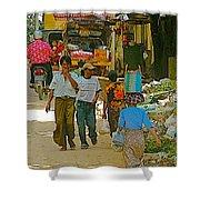 Street Scene In Tachilek-burma Shower Curtain