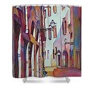 Street Scene Italy Shower Curtain