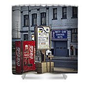 Street Scene With Coke Machine No. 2110 Shower Curtain