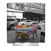 Street Seller Shower Curtain