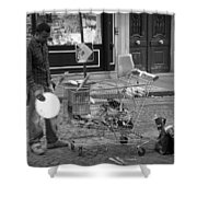 Street Vendor Shower Curtain by Chevy Fleet