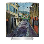 Street View From Provence Shower Curtain