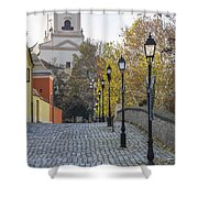 Street View In Gyor Shower Curtain