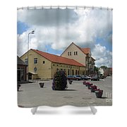 Street View. Silute Lithuania May 2011 Shower Curtain