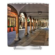 Street With Arches And Columns Shower Curtain