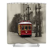 Streetcar On Canal Street - New Orleans Shower Curtain