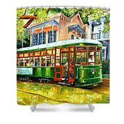 Streetcar On St.charles Avenue Shower Curtain by Diane Millsap