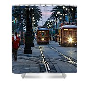 Streetcars On Canal Street Shower Curtain