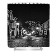 Streets Before Christmas Shower Curtain