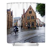 Streets Of Brugges 3 Shower Curtain