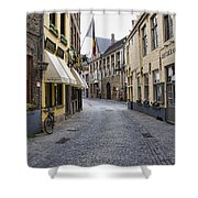 Streets Of Bruges Shower Curtain