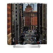Streets Of San Fran Shower Curtain by Benjamin Yeager