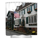 Streetscene Newport  -  Rhode Island Shower Curtain
