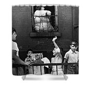 Streetside Games, 1938 Shower Curtain