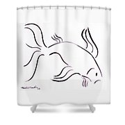 Strength Shower Curtain by Micah  Guenther