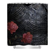 Strength Of A Rose Shower Curtain by Jack Zulli