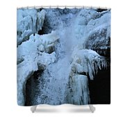 Strength Of Water And Ice Shower Curtain