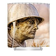 Stress Of Korean War Shower Curtain