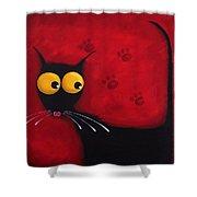 Stressie Cat Shower Curtain